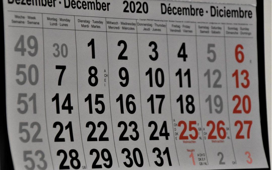 Statistieken van de maand: DECEMBER 2020